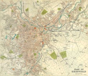 Sheffield Map from 1980