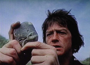 The Shout | John Hurt with stone